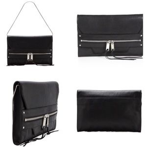 MILLY- Riley Large Clutch in Black